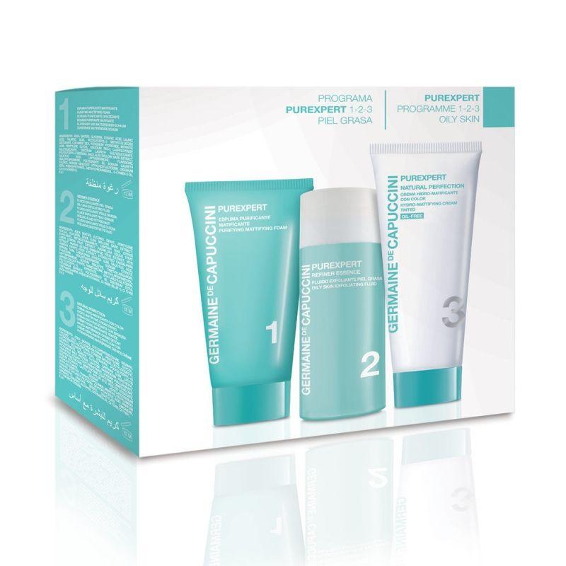 74461d60035 Комплект за лице - пяна, ексфолиант и крем за мазна кожа Germaine de  Capuccini PureExpert Kit