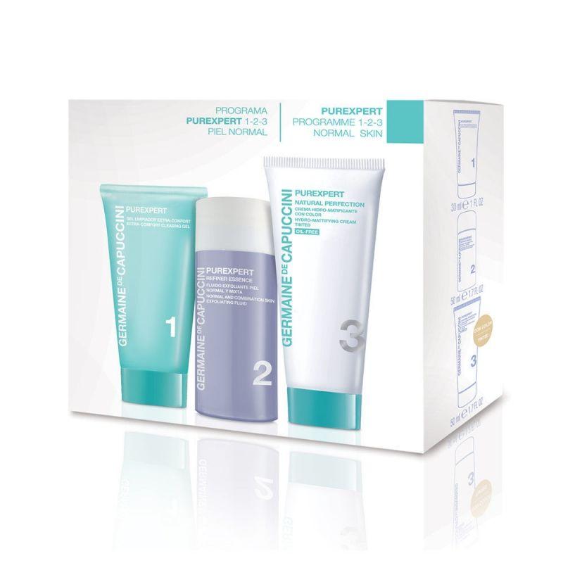 ad9cc5130f0 Комплект за лице - гел, ексфолиант и крем за нормална кожа Germaine de  Capuccini PureExpert